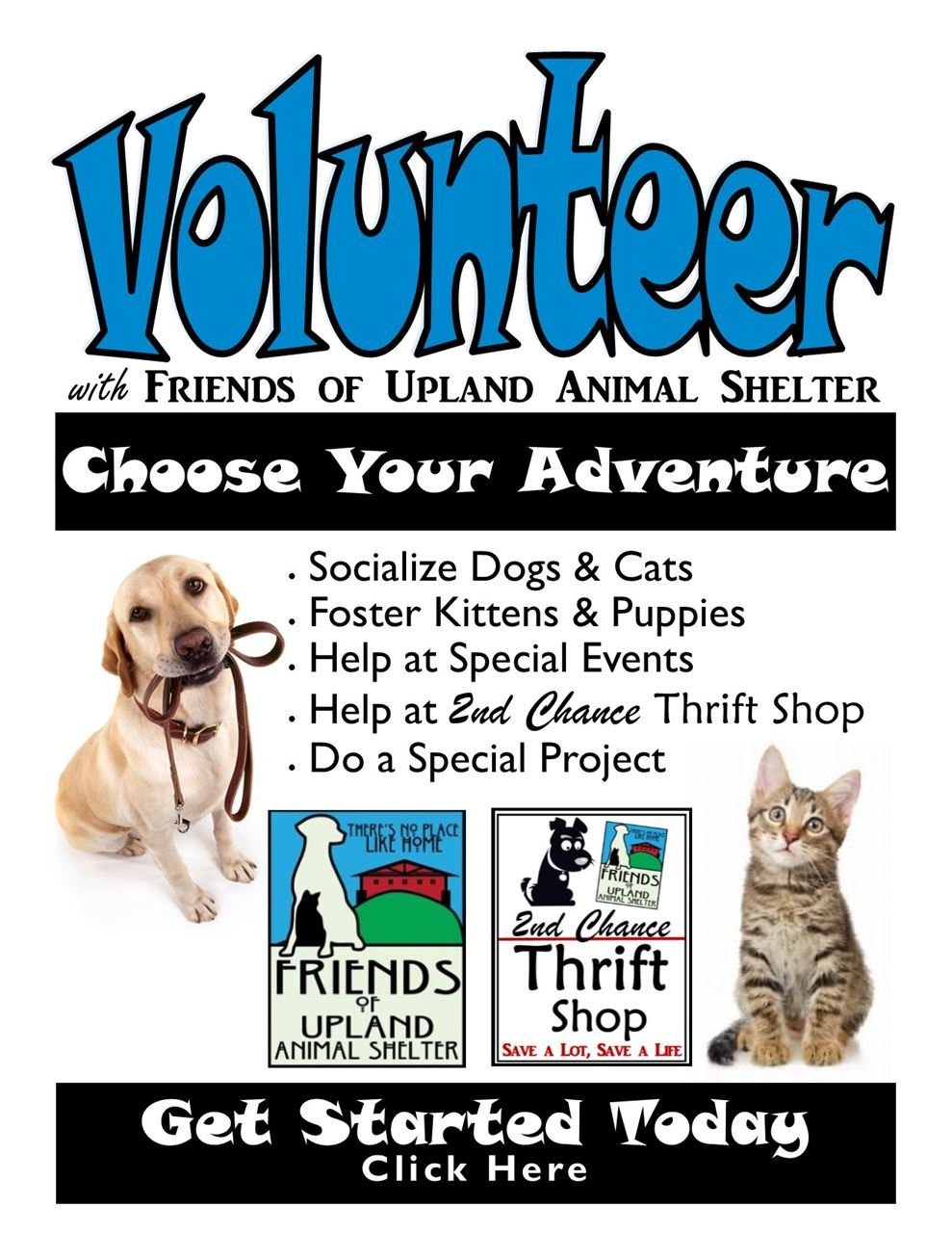 Friends Of Upland Animal Shelter Welcome